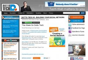 Steve Dotto Dotto Tech website screen capture