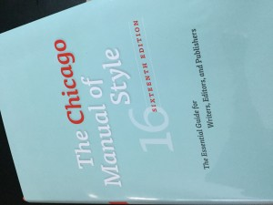 Book Cover: Chicago Manual of Style 16th Edition