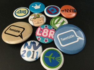 social networks, pins for WordPress, Foursquare, Twitter, Social Media Camp, Northern Voice