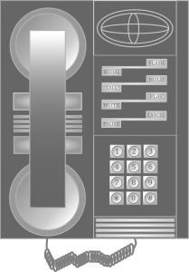Telephone Vector Drawing