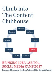 Idea Lab handout for Social Media Camp 2017 cover image