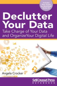 book cover Declutter Your Data by Angela Crocker